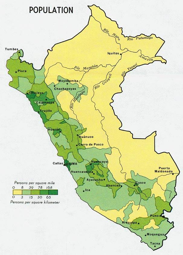 PERU TRAVEL INFO - Cities map of peru